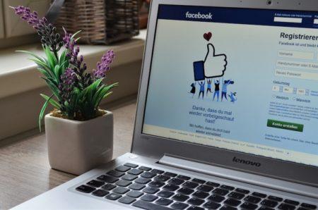 La page d'accueil de Facebook